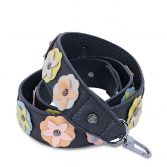 Shoulderstrap flower multicolor/black